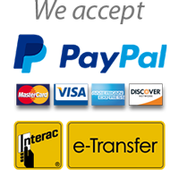 we accept credit cards paypal interac e-transfer
