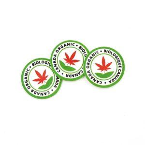 canada organic cannabis sticker